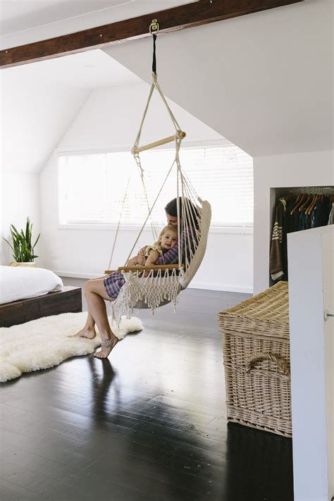 Bedroom With Hammock by Sleek Bohemian Rustic Family Home Glitter Inc Glitter Inc