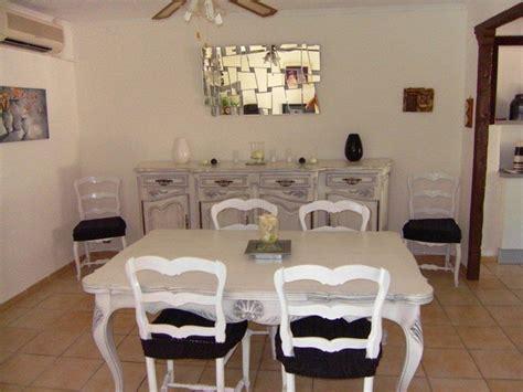 aménagement cuisine ouverte sur salle à manger salle à manger ancienne style louis xv provençal relookée
