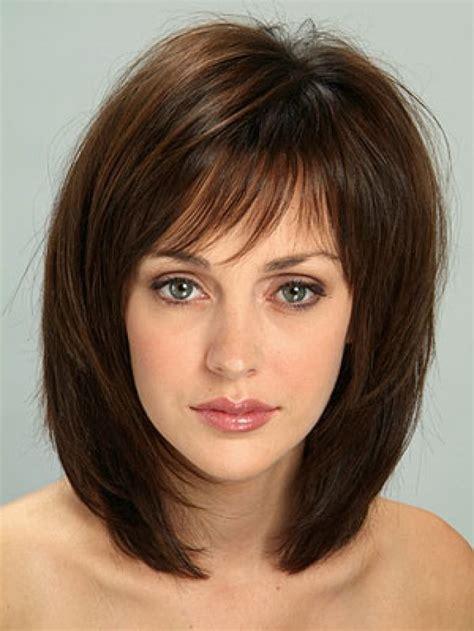Haircuts Above Shoulder Length Bangs With Medium Hair