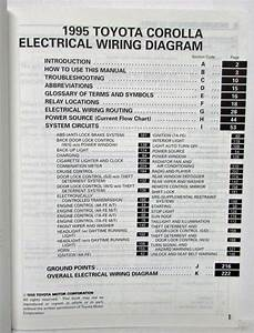 1995 Toyota Corolla Electrical Wiring Diagram Manual Us