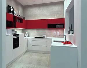 Küche U Form Günstig : nolte musterk che einbauk che lack wei softmatt rothochglanz u form k che ausstellungsk che in ~ Indierocktalk.com Haus und Dekorationen
