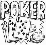 Poker Coloring Chips Drawing Table Cards Doodle Printable Getcolorings Getdrawings sketch template