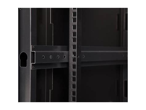 9u Linier Fixed Wall Mount Cabinet Glass Door At Cables