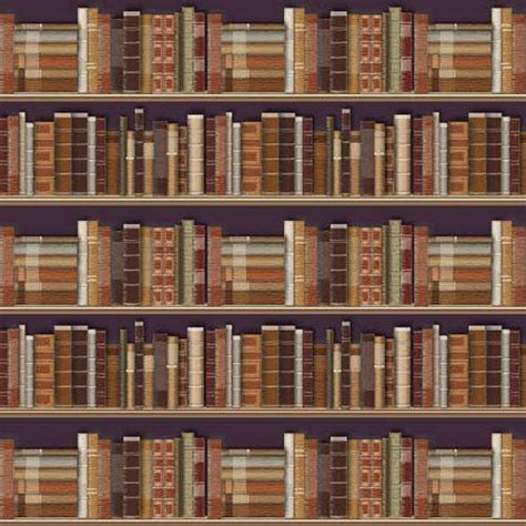 Bookcase Wall Paper by The Dolls House Emporium Traditional Bookcase Wallpaper