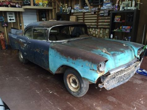 Project Cars Garage by Sell New 1957 Chevy Belair Hardtop Coupe Stick Project Car