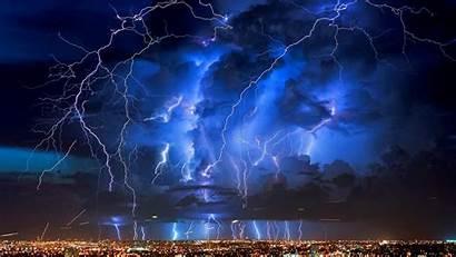 Lightning Desktop Storm Rain Clouds Sky Widescreen