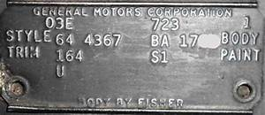 1964 Chevelle Trim Tags
