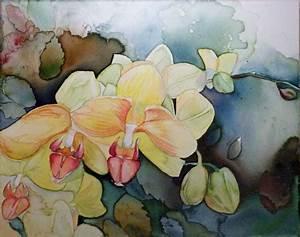 Gemalte Bilder Auf Leinwand : bild aquarell auf leinwand orchidee orchideen blumen von frank koebsch bei kunstnet ~ Frokenaadalensverden.com Haus und Dekorationen