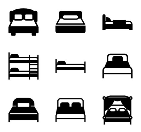 solid bed base bed icons 1 295 free vector icons