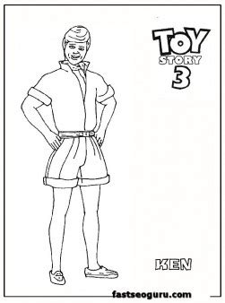 ken toy story  coloring pages  kids  printable coloring pages  kids