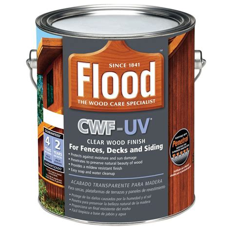 flood  gal clear cwf uv oil based exterior wood finish