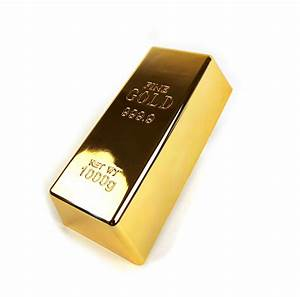 Gold Bar Paperweight Or Doorstop 1Kg Bullion Bar Pink