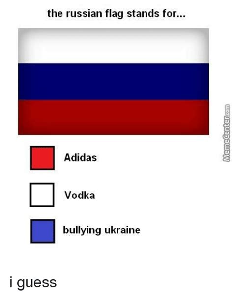what does the color stand for the russian flag stands for adidas vodka bullying ukraine