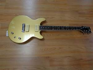 Esp Ltd Hybrid Ii Gold Flake 6 Sting With Single Coil P90