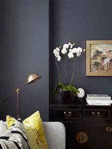 Farrow ball hague blue paint color schemes interiors for Kitchen cabinet trends 2018 combined with bronze bird wall art