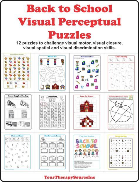 school visual perceptual puzzles  therapy source