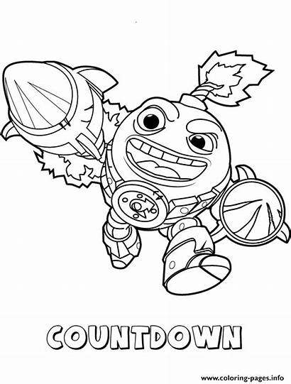 Coloring Countdown Skylanders Swap Pages Force Tech