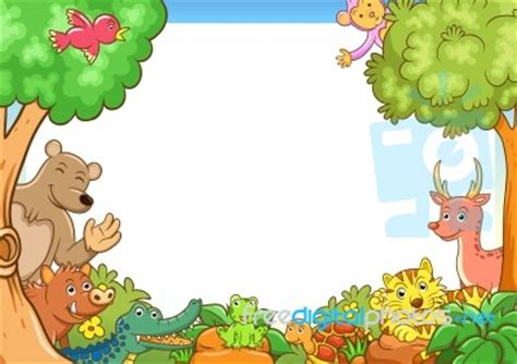 Animal Frame Wallpaper - frame with animals stock image royalty free image