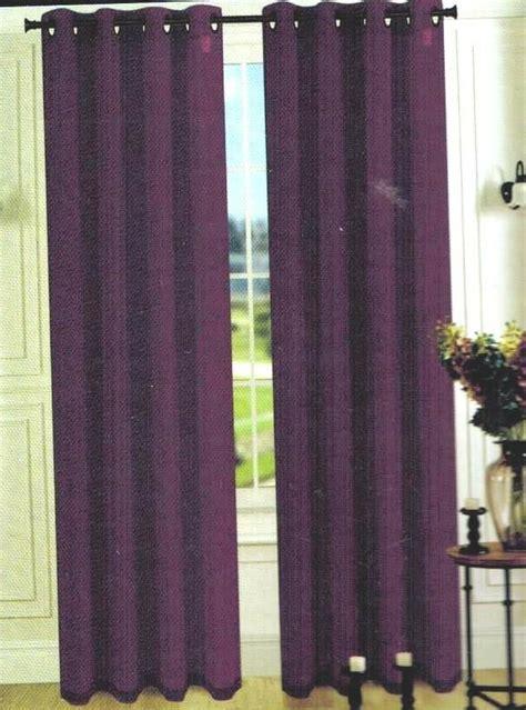 1 Pcs Plum Purple Faux Silk Panel Window Curtain 8