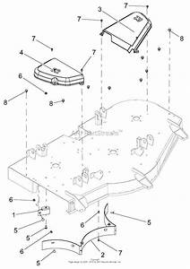 Ariens 915177  000101 -   Ikon-x 52 Parts Diagram For Belt Covers And Baffles