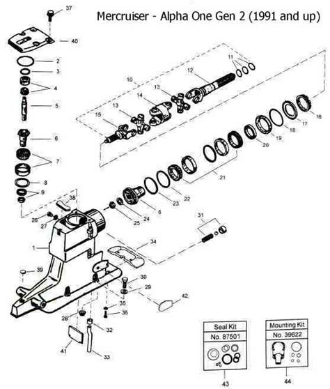Mercruiser Lower Unit Diagram by Mercruiser Alpha One Unit Drawing