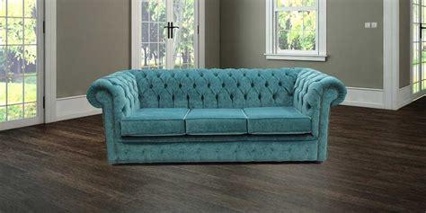 care   velvet chesterfield sofa