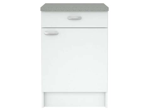 meuble cuisine tiroir meuble bas cuisine 1 porte 1 tiroir casa coloris blanc