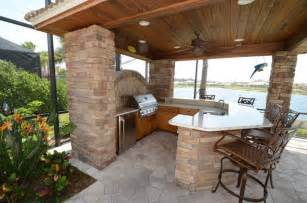 Kitchen Islands With Legs Outdoor Kitchen Cabinets Traditional Patio Ta By Da Vinci Cabinetry Llc