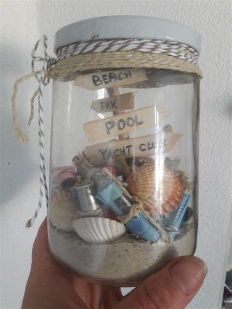 urlaub im glas geschenkideen einmachglas geschenke