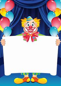Clown clipart background - Pencil and in color clown ...