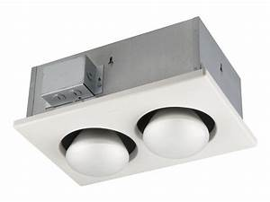 broan 163 type ic infrared two bulb ceiling heater 250 With heating bulbs bathrooms