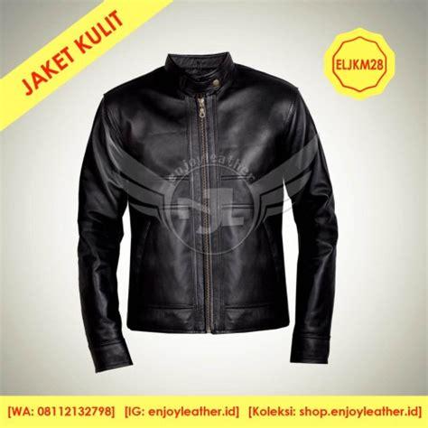 jual jaket kulit motor pria model eljkm jaket anak muda