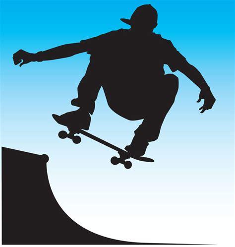 skater silhouette ai svg eps vector