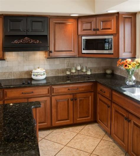 black brown kitchen cabinets granite countertops photos of cabinet combinations 4652