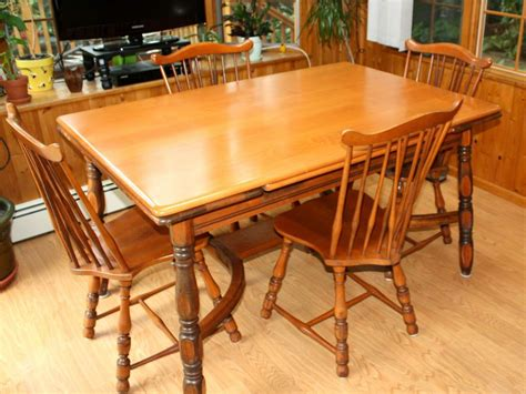 maple dining table set vintage 1940s traditional solid maple dining set table
