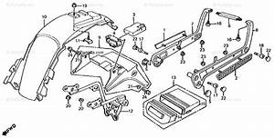 Honda Motorcycle 1986 Oem Parts Diagram For Rear Fender