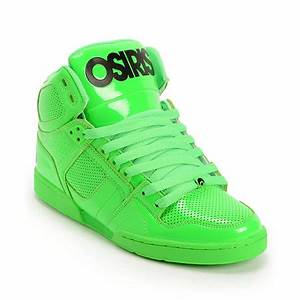 Osiris NYC 83 Green Blacklight Skate Shoes at Zumiez PDP