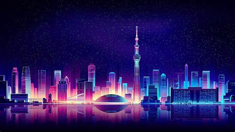 neon city wallpapers  images wallpaperboat