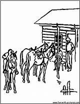 Ranch Coloring Cowboys Template Range sketch template