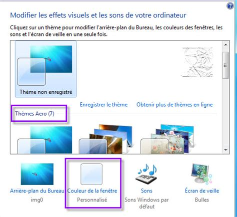 performances du bureau pour windows aero activer aero windows 7 windows 10 windows 8