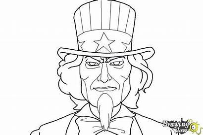 Uncle Sam Draw Drawingnow Step Coloring