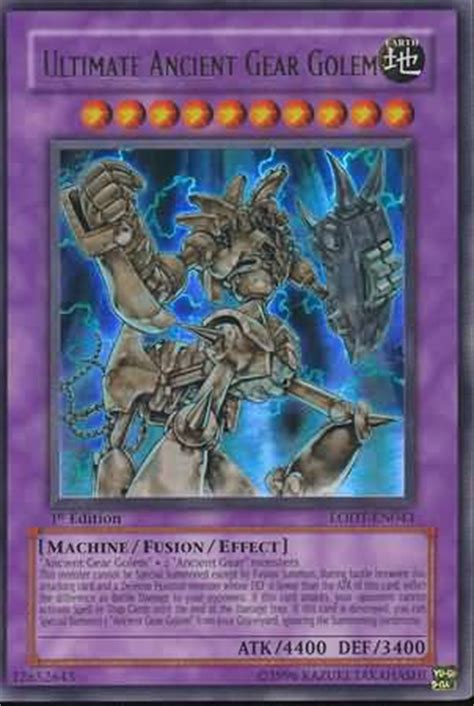 yugioh ancient gear deck ultimate ancient gear golem yugioh light of