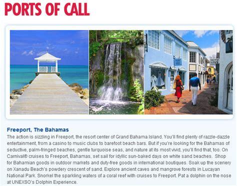 Jacksonville To Bahamas By Boat by Itinerary Carnival Fascination 4 Day Bahamas Rock