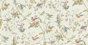 Bird Motif Wallpaper