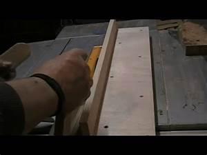 Fabrication d'un guide de coupe pour scie sur table ...