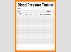 Blood pressure record sheet primary photo 13 recording