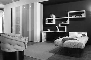 3 black and white bedroom ideas midcityeast With kitchen cabinet trends 2018 combined with custom sheet music wall art