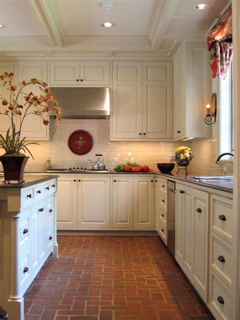 kitchen and floor decor kitchen brick floor home design ideas pictures remodel