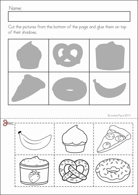 food worksheets for preschoolers to color food best free