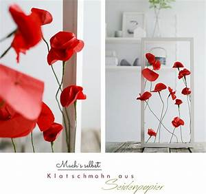 Blumen Aus Seidenpapier : nachmachtipp klatschmohn aus seidenpapier sinnenrausch bloglovin ~ Orissabook.com Haus und Dekorationen
